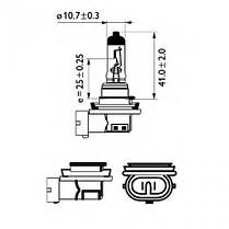Светодиодная лампа SLP LED в противотуманные фонари с цоколем H11 Osram 60W Black 9-30V 950lm Белый, фото 3