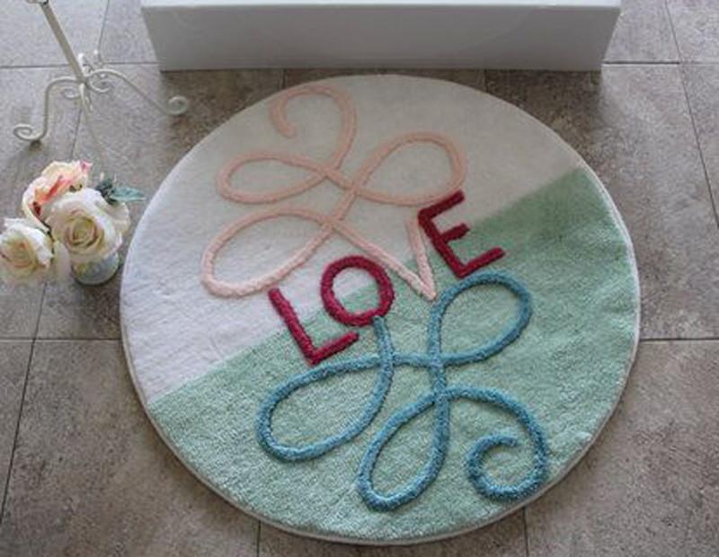 Alessia круглый коврик в ванную комнату (высокая плотность)