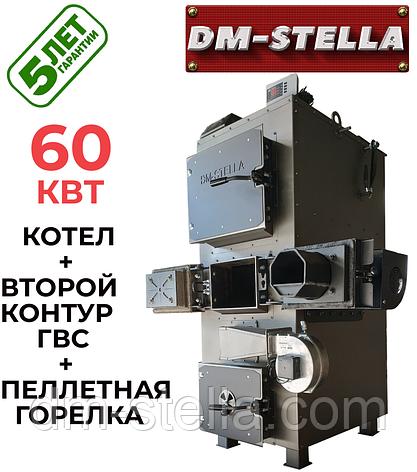 Котел на пеллетах 60 кВт DM-STELLA (двухконтурный), фото 2