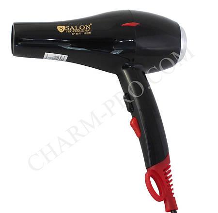 Фен для волос Salon Professional 8877 Ionic (1900W) Черный