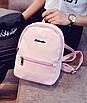 Рюкзак женский городской кожзам Melorin Розовый, фото 4