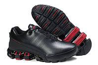 Оригинальные мужские кроссовки Adidas Porsche Design IV Leather Black Red