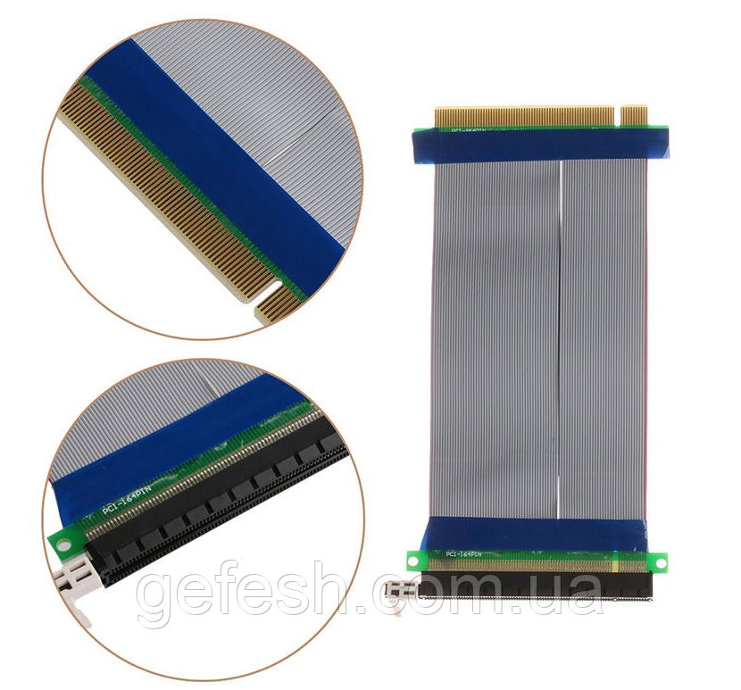 Райзер Riser PCI-E 16x to 16x удлинитель шлейф для видеокарты
