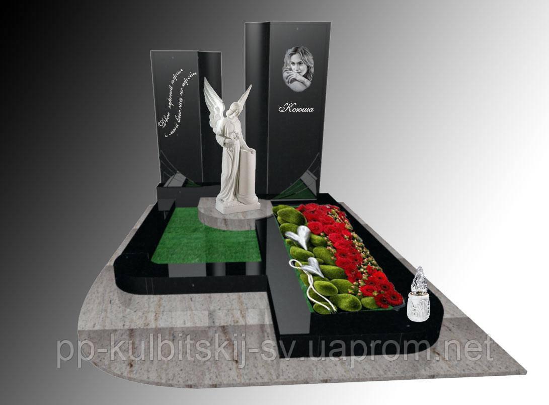 Пам'ятник надгробний Елітний одинарний з ангелом 2010