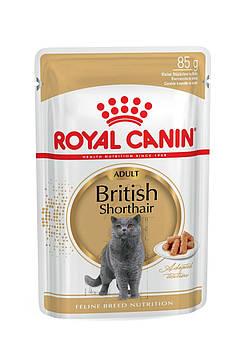 Влажный корм Royal Canin (Роял Канин) British Shorthair для кошек британская короткошерстная, 85гx12 шт