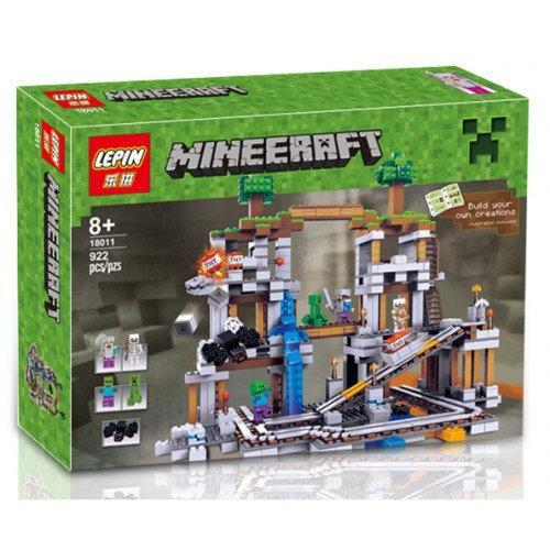 "Конструктор Lepin 18011 ""Шахта"" Майнкрафт, 922 деталей. Аналог Lego Minecraft 21118"