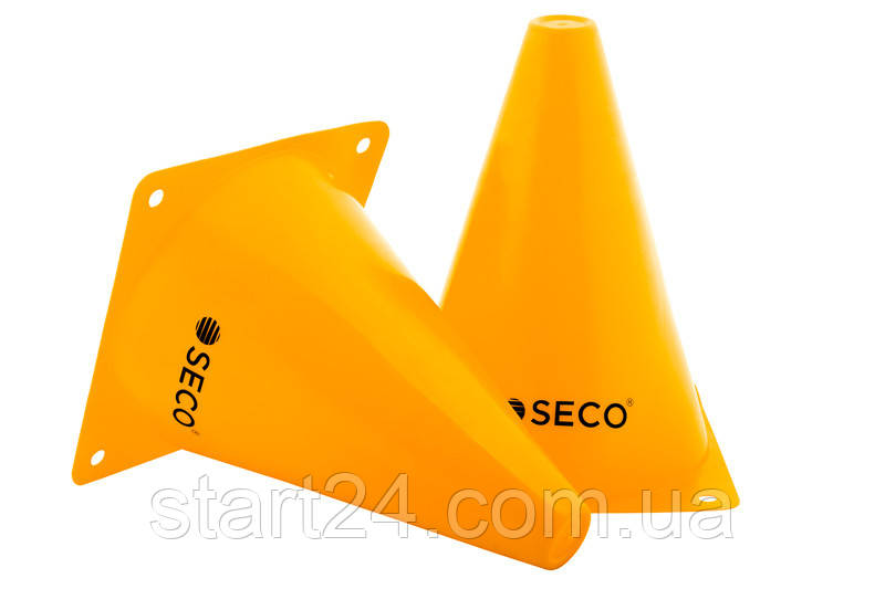 Тренировочный конус SECO 18 см желтого цвета