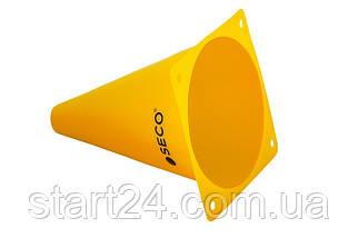 Тренировочный конус SECO 18 см желтого цвета, фото 2