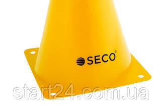 Тренировочный конус SECO 18 см желтого цвета, фото 3