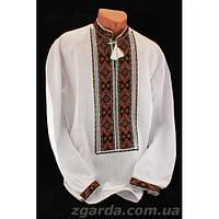 Мужская сорочка с богатой вышивкой (воротник 38-45)