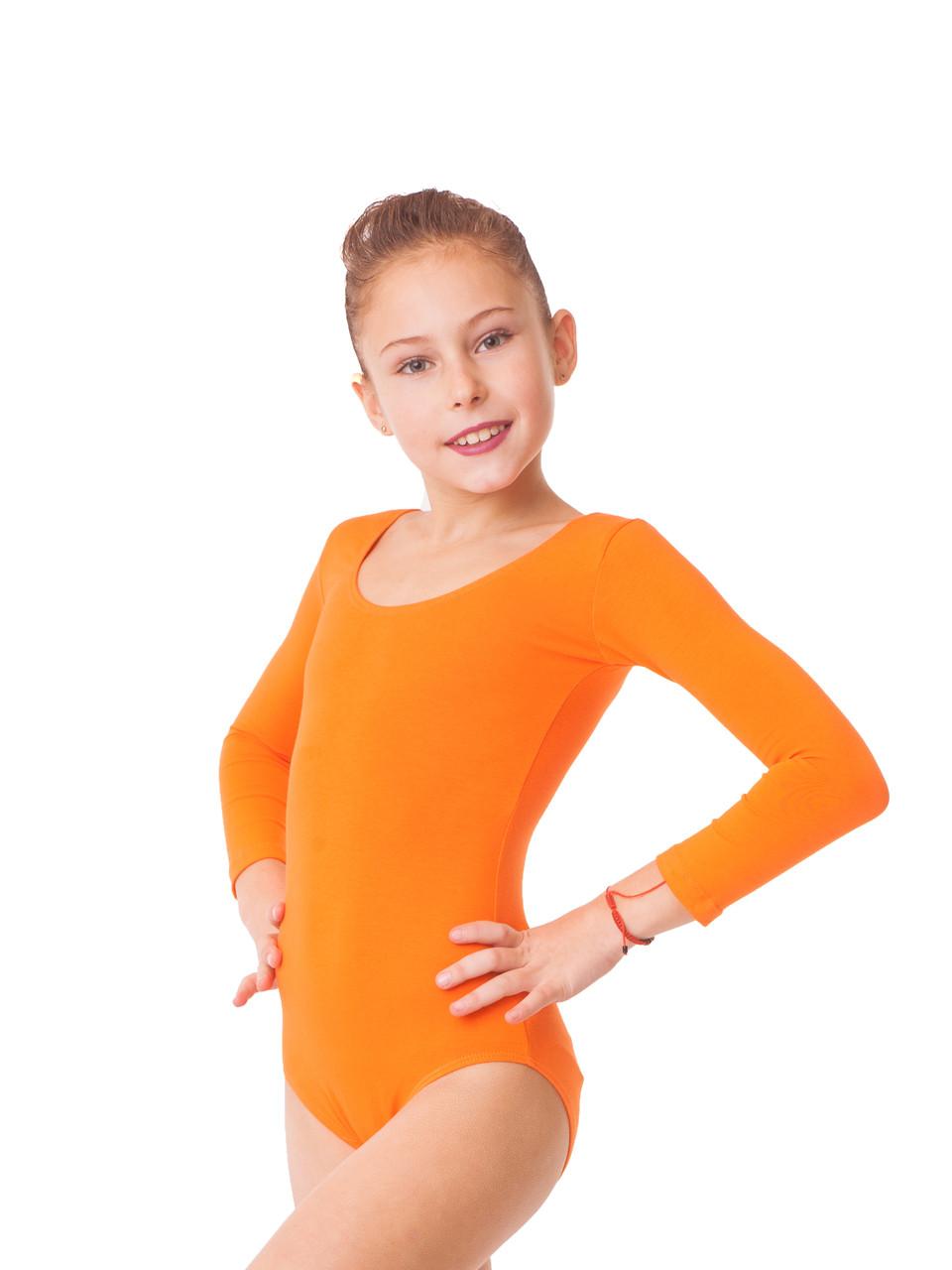Купальник для гимнастики трикотаж Оранжевый