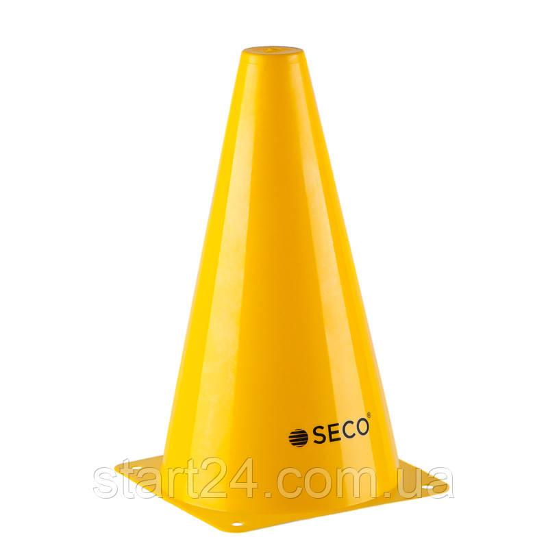 Тренировочный конус SECO 23 см желтого цвета