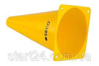 Тренировочный конус SECO 23 см желтого цвета, фото 2