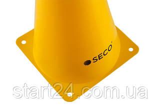 Тренировочный конус SECO 23 см желтого цвета, фото 3