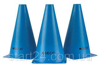 Тренировочный конус SECO 23 см синего цвета, фото 2