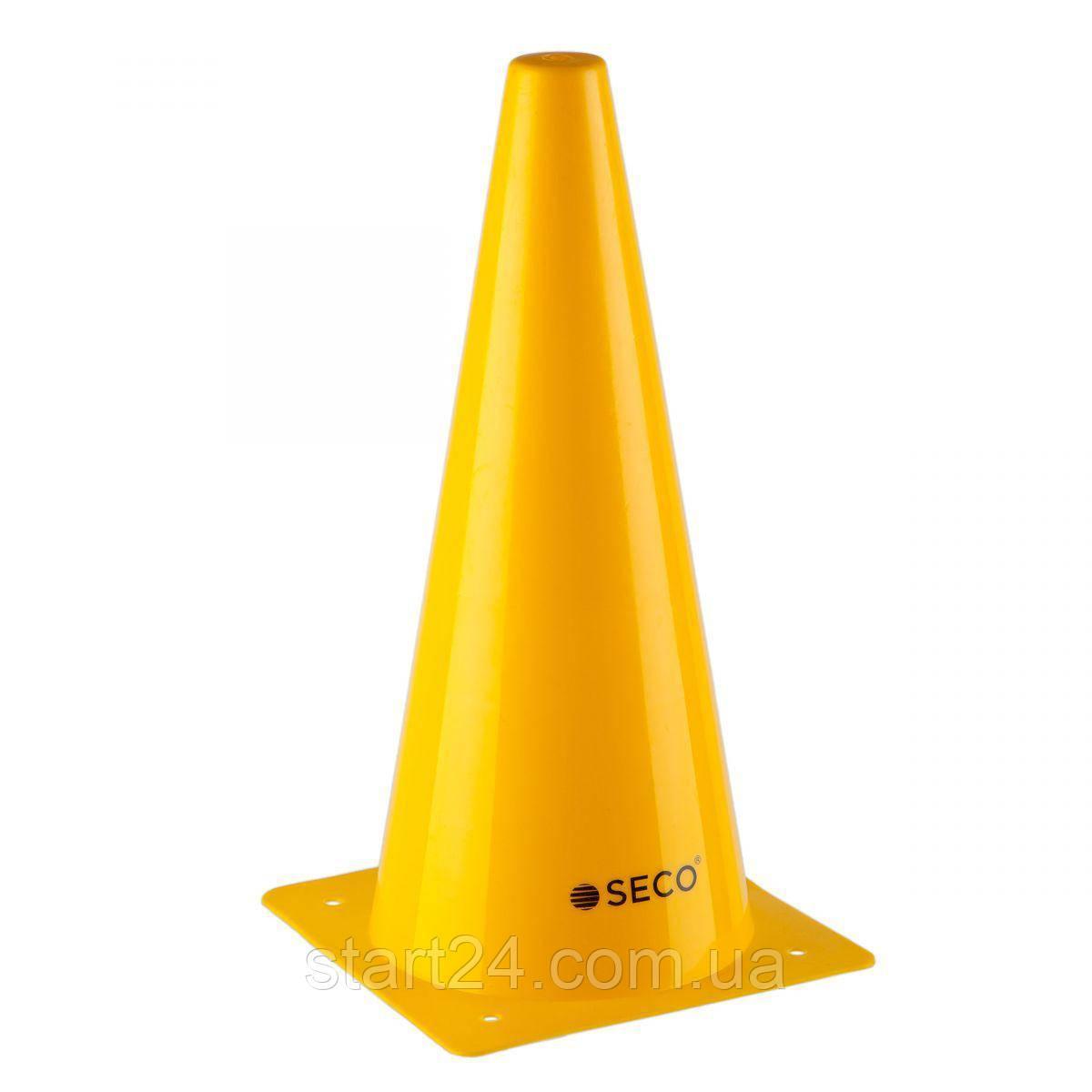 Тренировочный конус SECO 32 см желтого цвета
