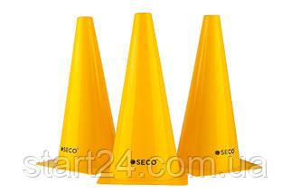 Тренировочный конус SECO 32 см желтого цвета, фото 3