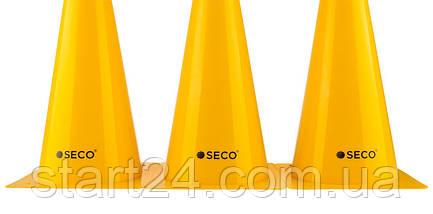 Тренировочный конус SECO 32 см желтого цвета, фото 2