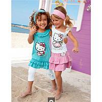 Костюм тройка летний для девочки Hello Kitty