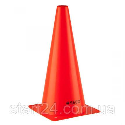 Тренировочный конус SECO 32 см оранжевого цвета, фото 2