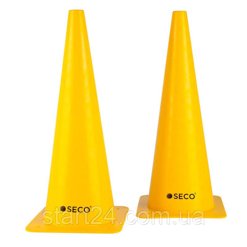 Тренировочный конус SECO 48 см желтого цвета