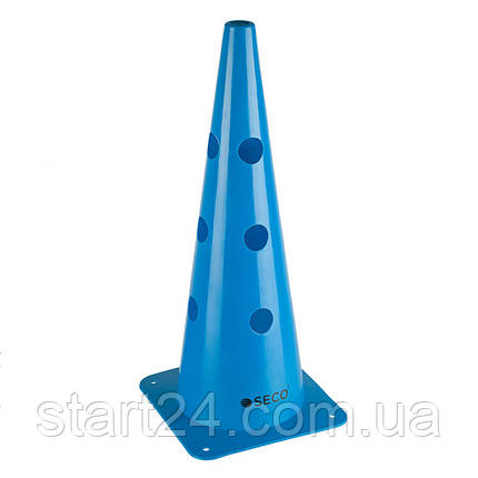 Тренировочный конус с отверстиями SECO 48 см синего цвета, фото 2