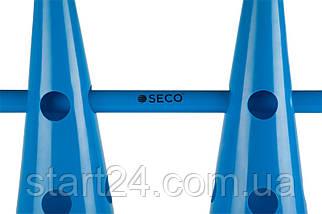 Тренировочный конус с отверстиями SECO 48 см синего цвета, фото 3