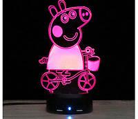 3D светильник Свинка Пеппа