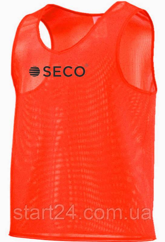 Футбольная манишка SECO оранжевого цвета