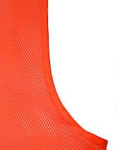 Футбольная манишка SECO оранжевого цвета, фото 3