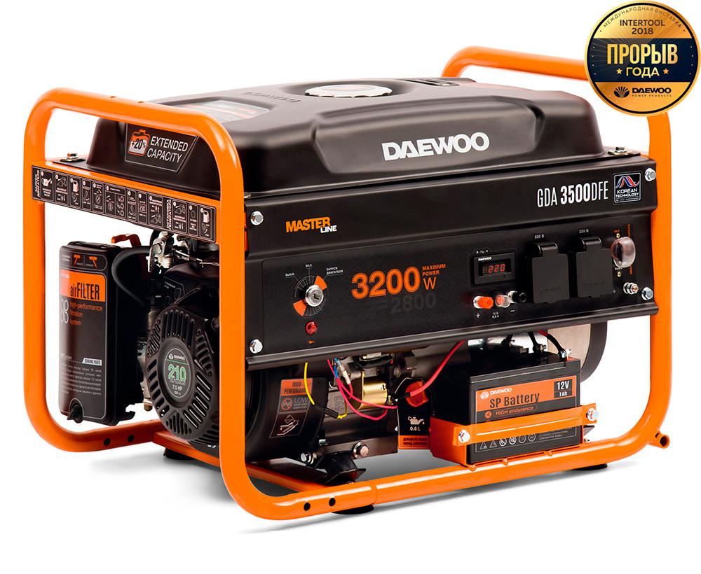 Газовый генератор Daewoo GDA 3500DFE + БЕСПЛАТНАЯ ДОСТАВКА ПО УКРАИНЕ