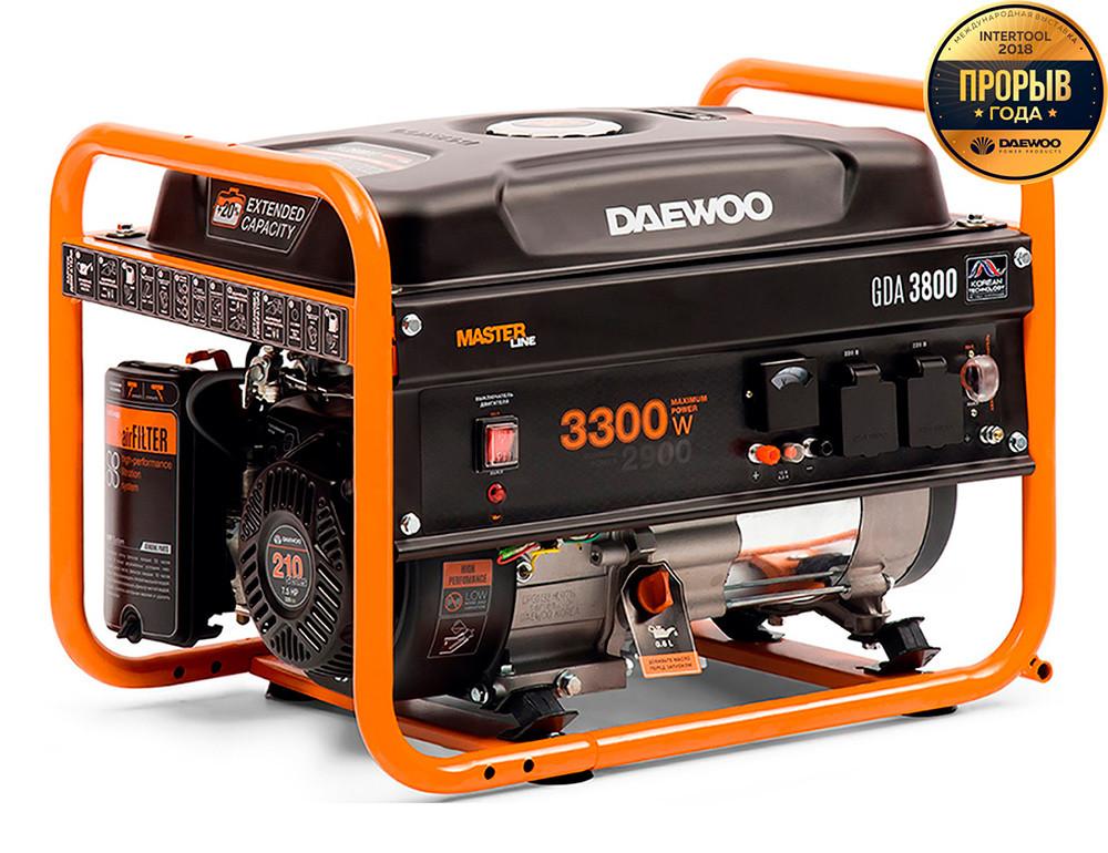 Бензиновый генератор Daewoo GDA 3800 + БЕСПЛАТНАЯ ДОСТАВКА ПО УКРАИНЕ