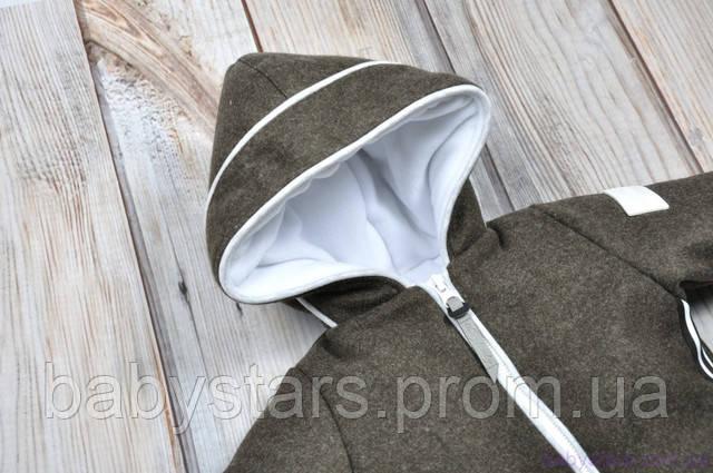 детский зимний комбинезон с вшитым капюшоном