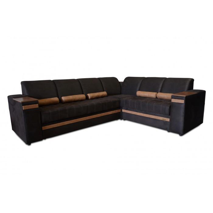 Угловой диван Бест (3,0х2,4) шоколад Элизиум