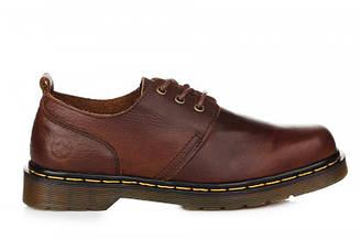 Оригинальные мужские туфли Dr. Martens Oxford Low Brown | оксфорд лоу коричневые