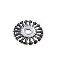 Щетка дисковая из плетённой проволоки (отверстие 22,2мм), 115 мм, Арт.: 19-9011
