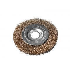 Щетка дисковая из рифлённой латунированной проволоки , 200*32 мм