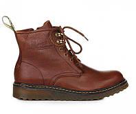 Оригинальные мужские ботинки Dr. Martens Zip Boots Brown (др. Мартенс) - коричневые