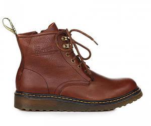 Мужские ботинки Dr. Martens Zip Boots Brown   др.мартенс ботинки коричневые