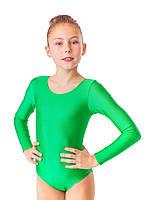 Купальник для танцев зеленый из бифлекса (рост 98см-140см)