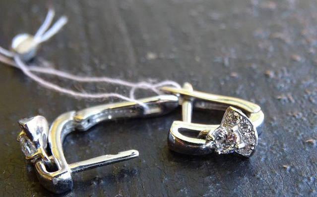 Серебряные серьги детские