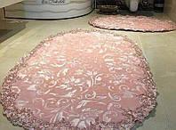 Estima Lux элитные коврики розового цвета 2-шт с кружевами (универсальные), фото 1
