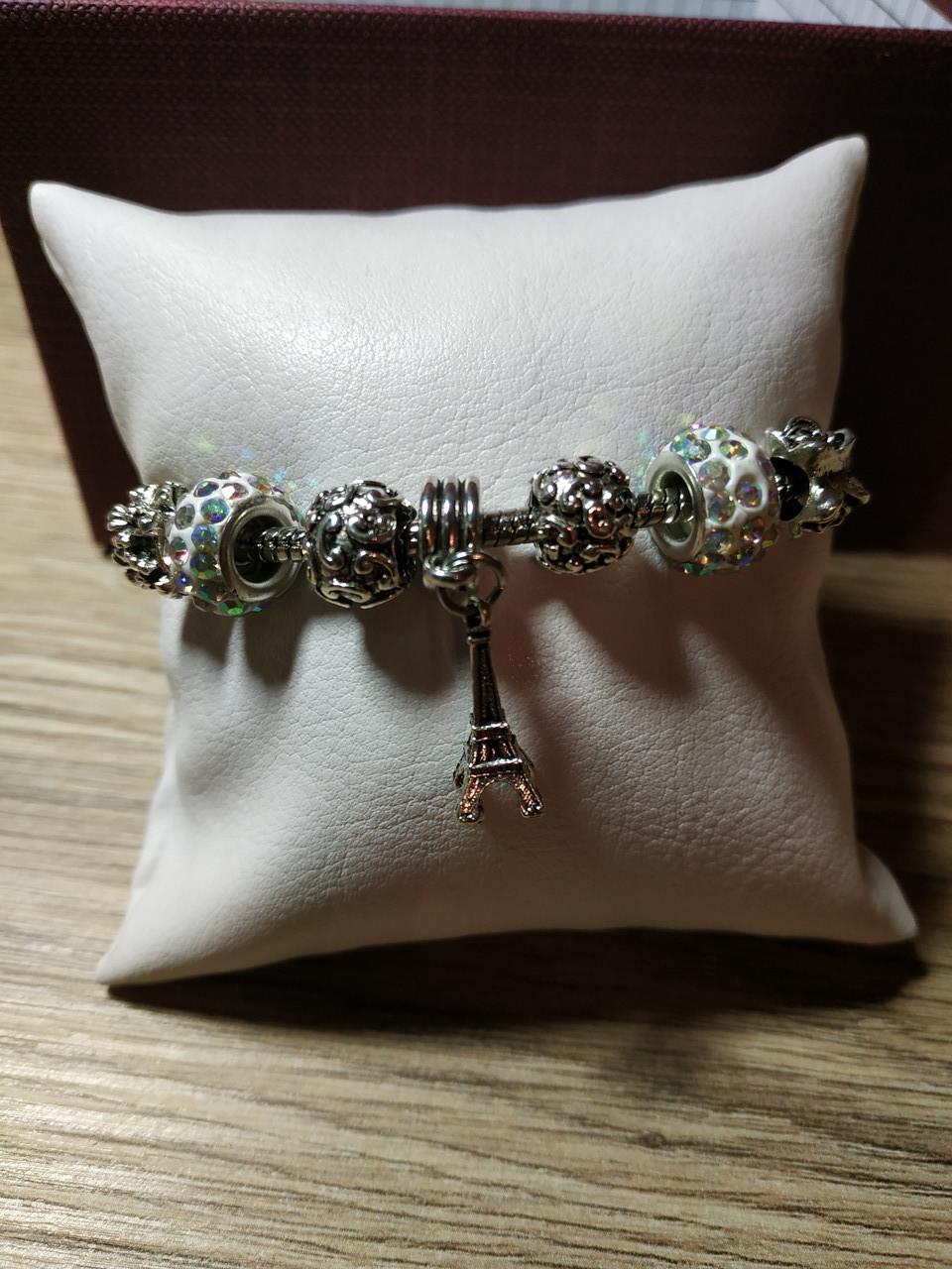 Женский браслет в стиле Pandora Париж (реплика)