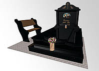 Пам'ятник надгробний з чорного граніту 8992, фото 1
