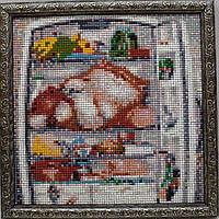"""Алмазная мозаика """"Кот в холодильнике"""""""