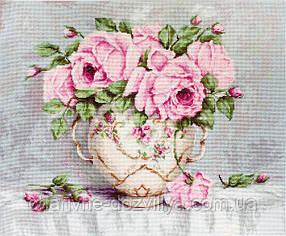 """Набор для вышивания крестиком (цветы) """"Розовые розы"""""""