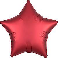 """18"""" (45 см) Звезда сатин красный Anagram США шар фольгированный"""