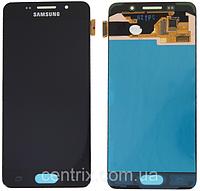 Дисплей (экран) для Samsung A310F Galaxy A3 (2016) + тачскрин, черный, оригинал