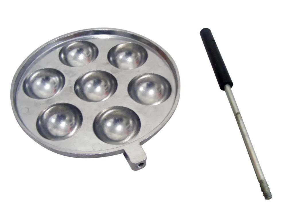 Форма для приготовления творожных, сырных шариков (съемная ручка, блестящая)