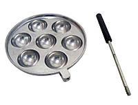 Форма для приготовления творожных, сырных шариков (съемная ручка, блестящая), фото 1